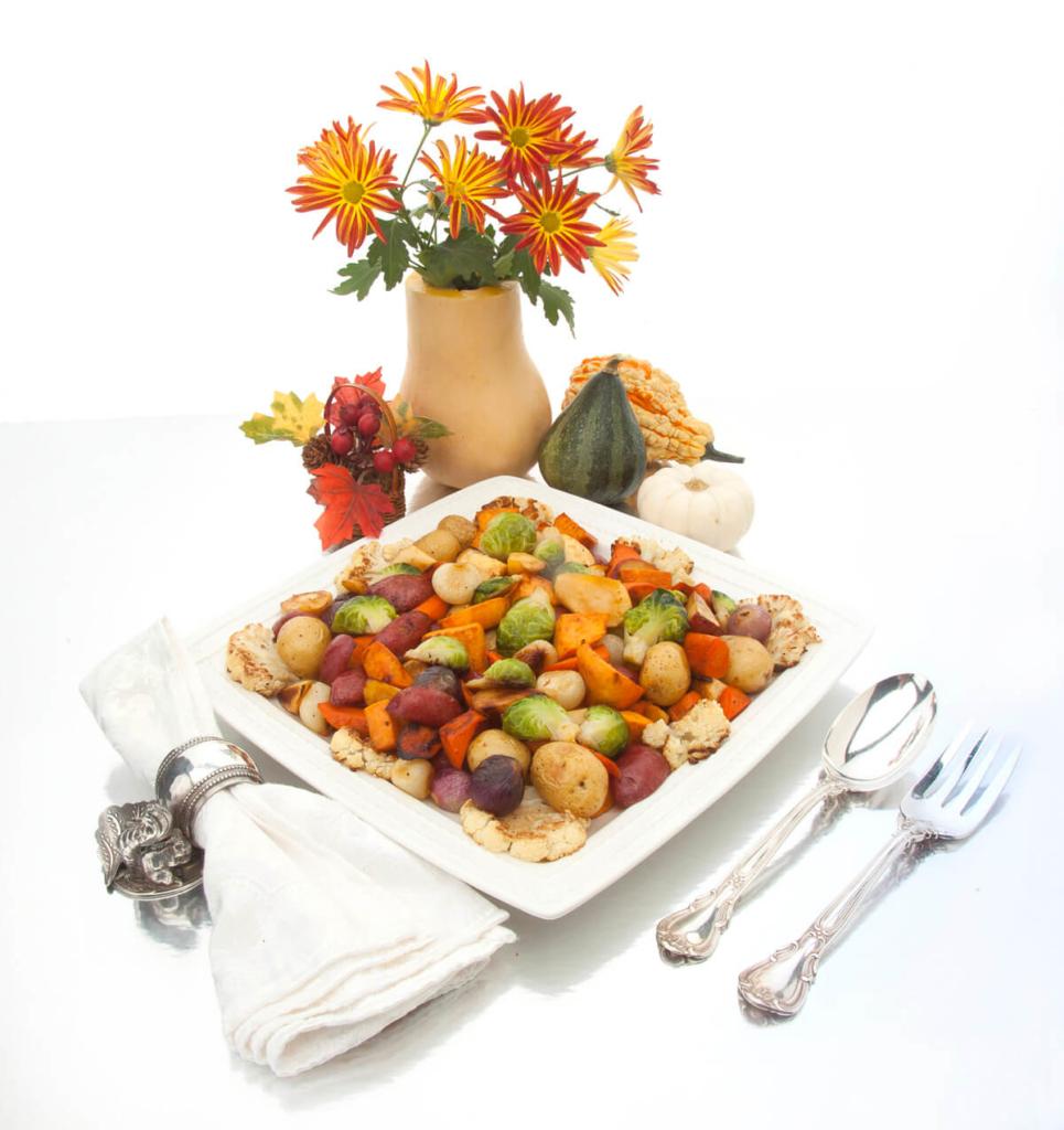 Thanksgiving Cornucopia of Roasted Vegetables