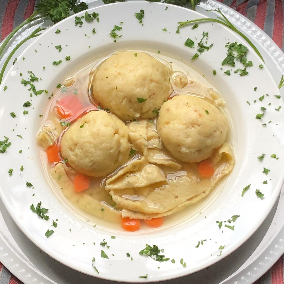 Nanny Fela's Chicken Soup With Matzoh Balls