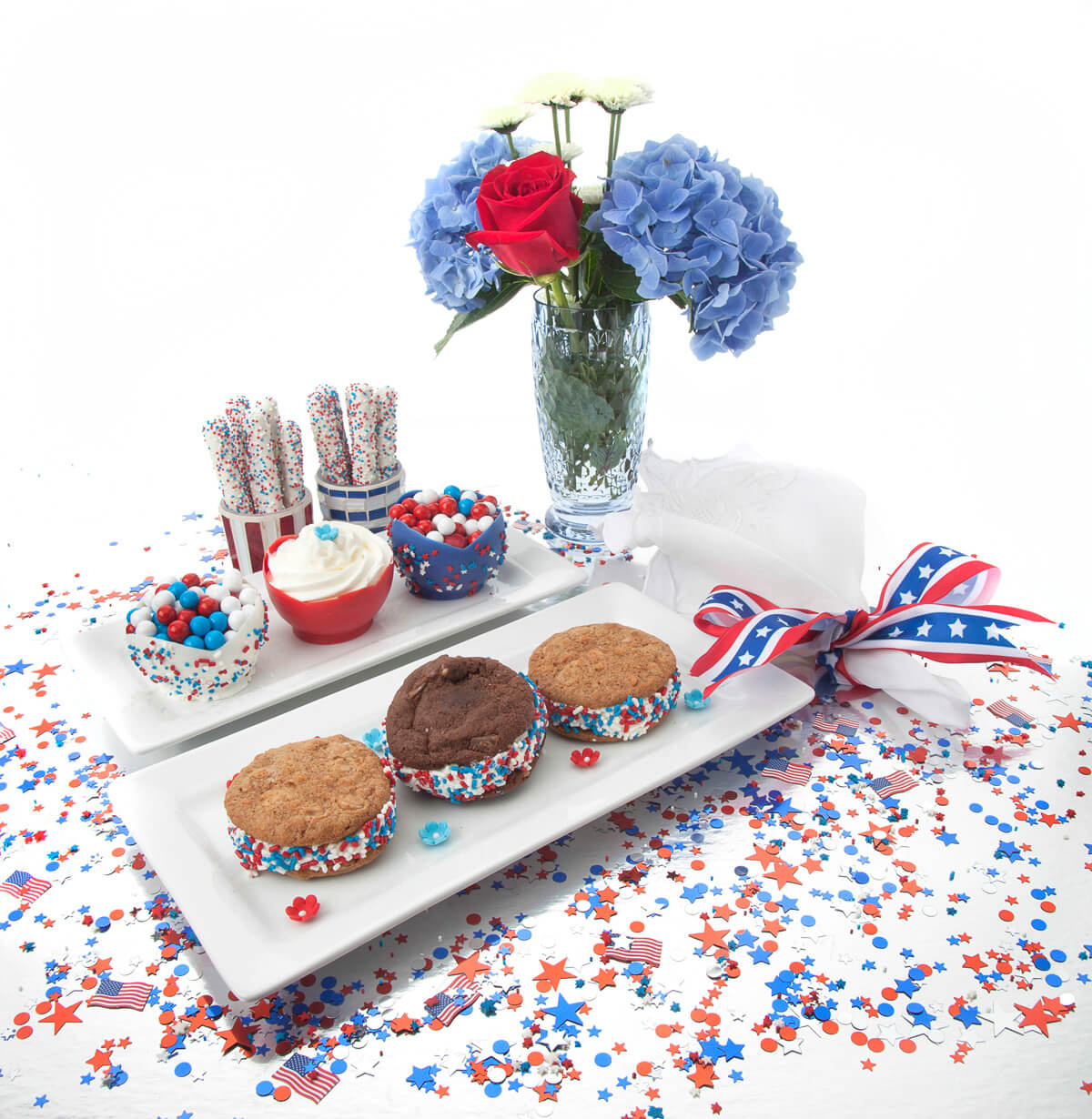 Red White and Blue Balloon Cups