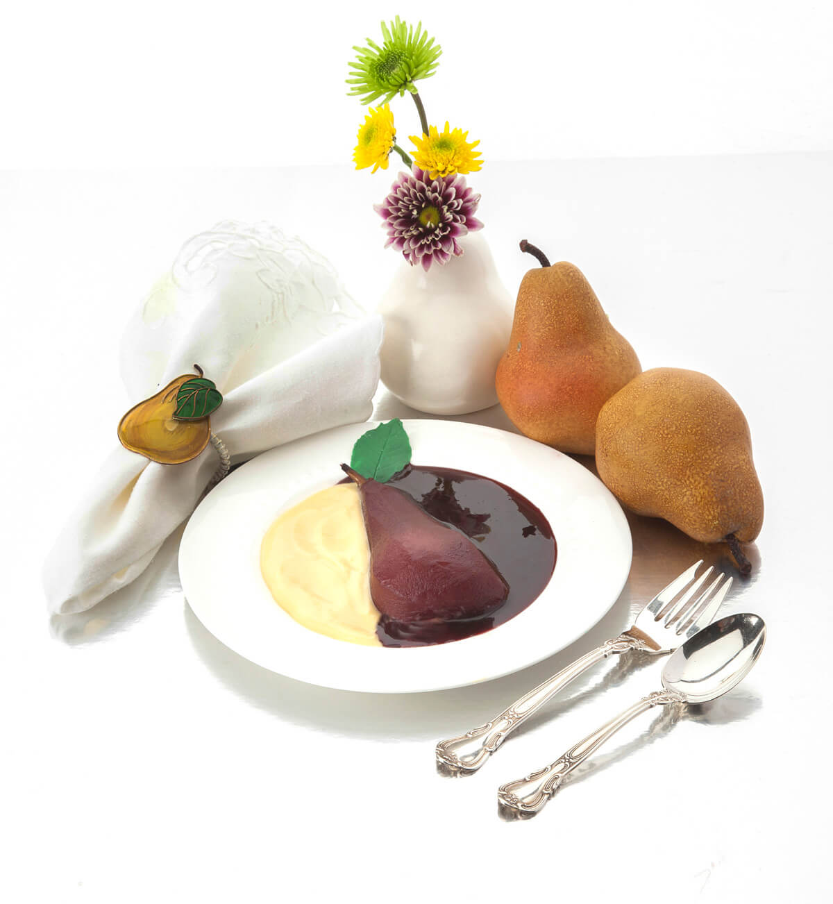 Beaujolais Poached Pears